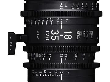 Sigma art cine zooms: 18-35mm