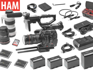 Rent: Canon EOS C300 Mark II, 24-70mm, 16-35mm, 70-200mm f/2.8L