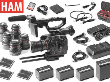Rent: Canon EOS C300 Mark II, (6) Rokinon Cine DS Lenses (3) 256GB