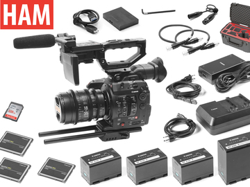 Rent: Canon EOS C300 Mark II, Sigma Cine 18-35mm T2 Lens (3) 256GB