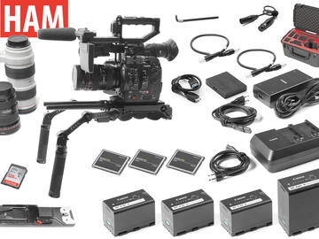 Rent: Canon C300 Mark II EF 24-70, 16-35, 70-200 Lens Shoulder Rig