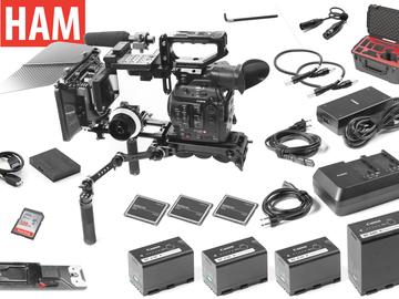 Rent: Canon C300 Mark II EF Shoulder Rig, Follow Focus, Matte Box