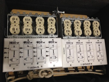 Rent: Manual dimmer board 8,000 watts