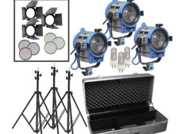 Rent: ARRI 650W Fresnel Compact 3-Light Kit
