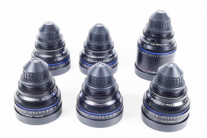 Zeiss Compact Prime super speed CP.2 lens set EF & PL Mount