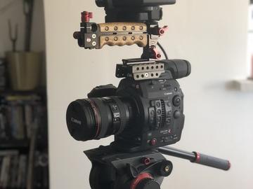 Rent: Canon EOS C300 Mark II Cinema Camera W/TRIPOD AND LENS (Kit)