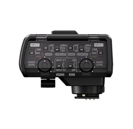 Panasonic Professional Microphone Adaptor + sennheiser mic