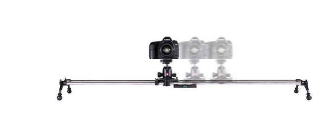 "Rhino 48"" DSLR Slider w/Manfrotto Fluid Head"