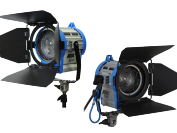 Rent: 2x ARRI 650W Fresnel kit with stands