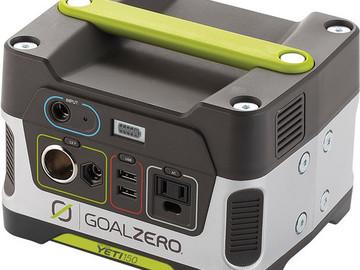 Rent: GOAL ZERO Yeti 150 Solar Generator Power Pack