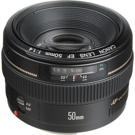 Canon EF 50mm f/1.4 USM Standard Autofocus Lens