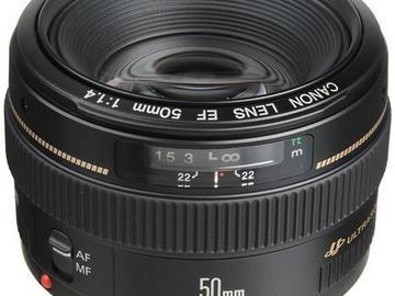 Rent: Canon EF 50mm f/1.4 USM Standard Autofocus Lens