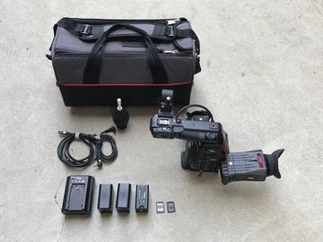 Rent: Canon C100 w Dual Pixel AF (Body Only), 3x Batt, 2x 128 SD