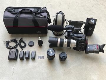Rent: C100 w/ Dual Pixel AF, 70-200ii, 24-105, 35mm Lens, and Mic