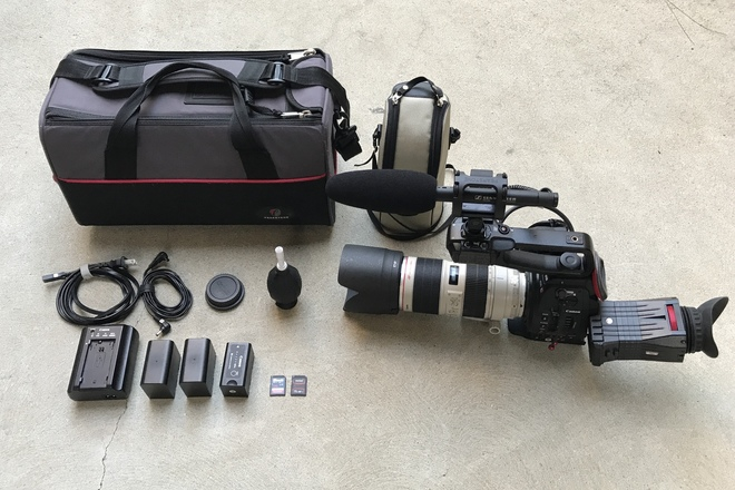 Canon C100 w/ Dual Pixel AF, 70-200 f/2.8L IS II, and Mic
