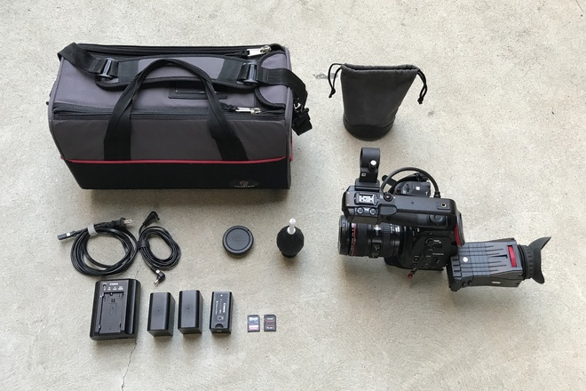 Canon C100 w/ Dual Pixel AF with 24-105mm f/4L IS USM Lens