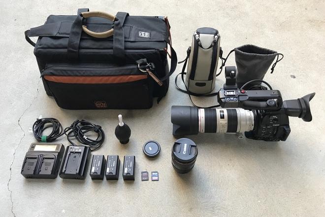 Canon C100 MKII w/ 70-200mm f/2.8L IS II USM, 24-105 f/4L IS