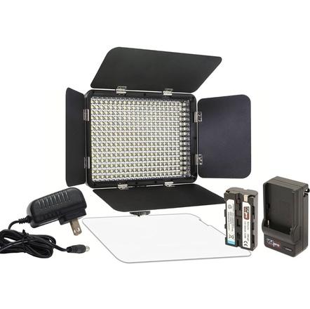 LED-330X Variable-Color On-Camera LED Video Light Kit