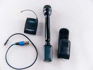 Rent: Electrovoice RE50B Stick Mic Sennheiser G2 Wireless receiver
