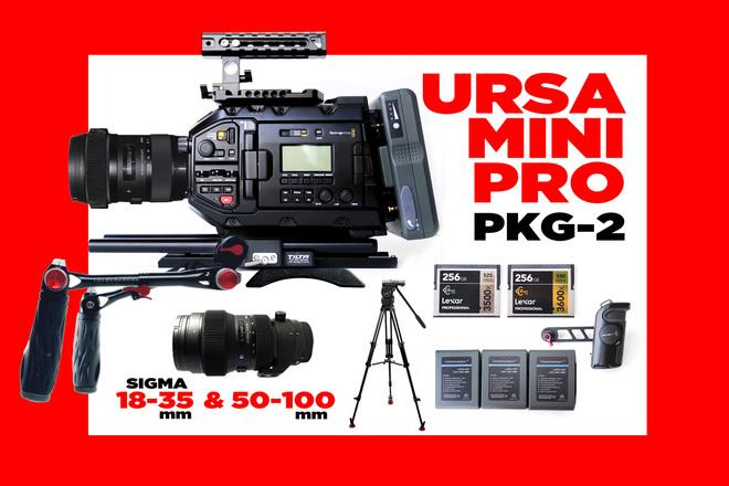 Blackmagic URSA Mini Pro 4.6K + 2  SIGMA LENSES
