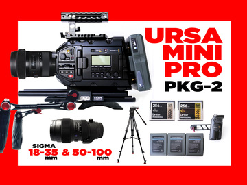 Rent: Blackmagic URSA Mini Pro + 2  SIGMA LENSES