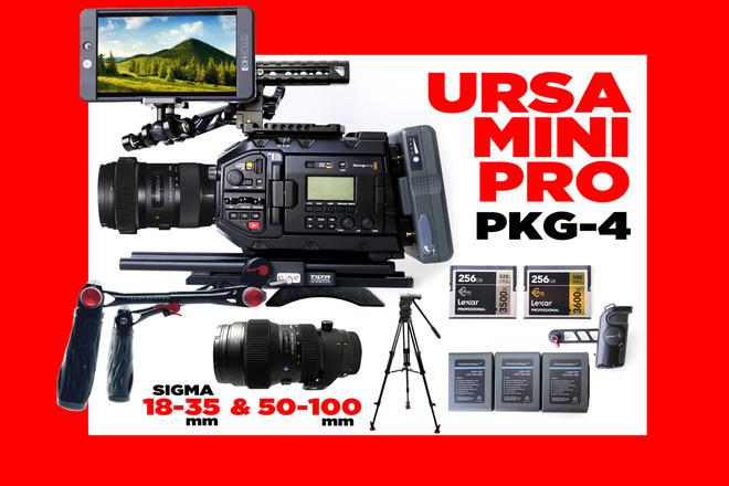 Blackmagic URSA Mini Pro 4.6K + MNTR + 2 LENSES