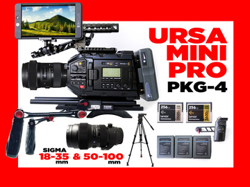 Rent: Blackmagic URSA Mini Pro + MNTR & 2 LENSES