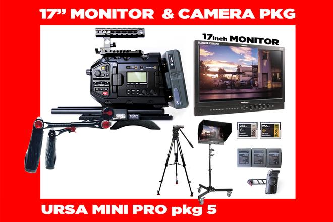 "URSA Mini Pro 4.6K + Flanders 17"" Client Director's Monitor"
