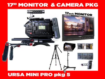 "Rent: URSA Mini Pro + Flanders 17"" Client Director's Monitor"