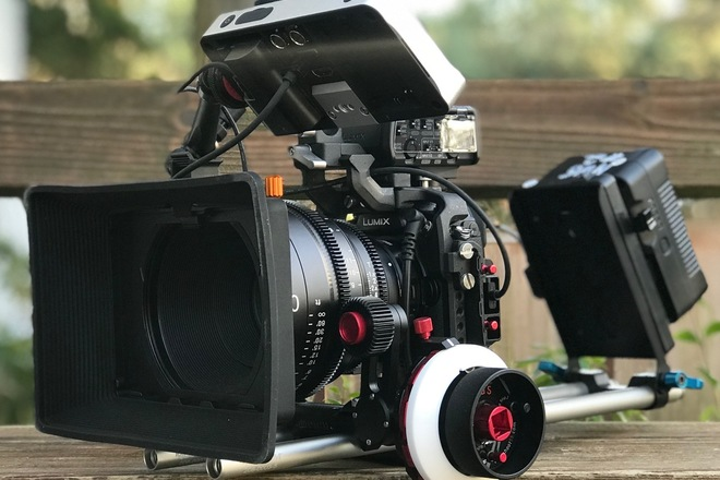 Panasonic Lumix GH5s cinema camera rig.