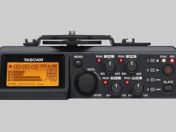 Tascam DR-70D 4-Channel Audio Recorder w/Sennheiser G3