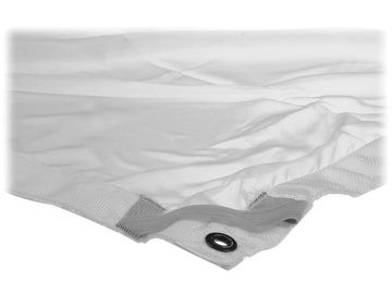 Rent:  OVERHEAD FABRIC | 8X8' | 1/4 STOP SILK | WHITE