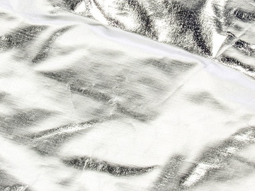 Rent:  OVERHEAD FABRIC | 8X8' | SILVER LAME