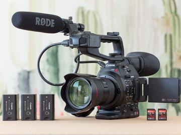 Rent: Canon C100 Mk II,  24-70mm lens, 504 tripod, mic, and media