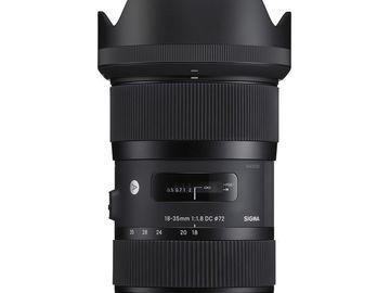 Sigma 18-35mm f/1.8 DC HSM Art +[72mm Filter Kit]