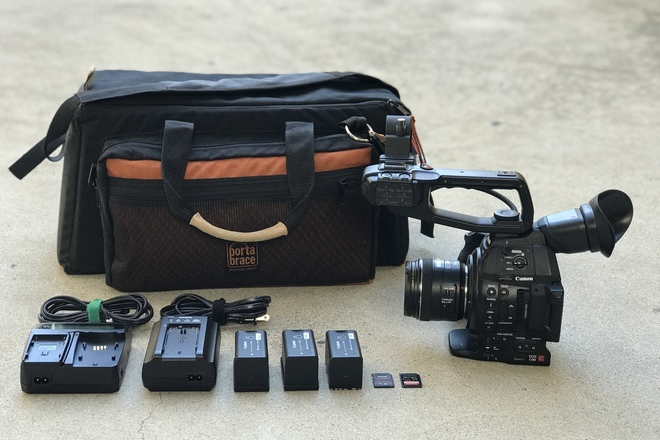 Canon C100 Mark II w/ EF 16-35mm f/2.8L II , 3x Batteries