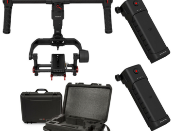 Rent: DJI Ronin-M 3-Axis Gimbal Stabilizer with extras