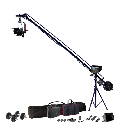 "12 foot remote head camera jib w/ 7"" HD monitor"