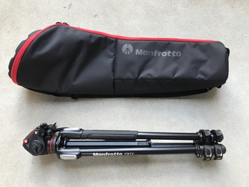 Rent: Manfrotto 190X3 Three Section Tripod w/ MHXPRO-2W Fluid Head