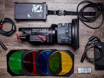 Rent: Aputure COB 120d LED Light w/ Fresnel Lens & Barndoors (1/2)