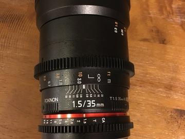 Rent: Rokinon 35mm f/1.5