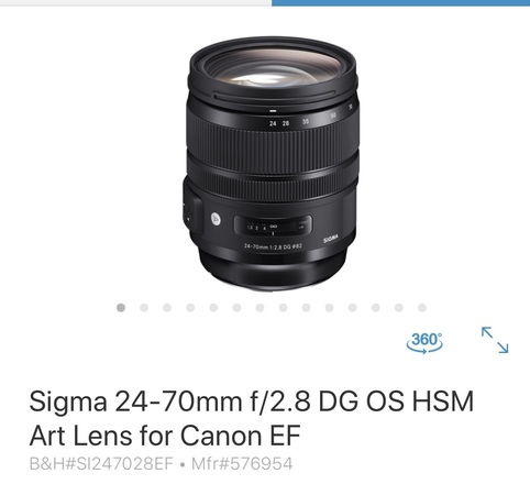 Sigma Art 24-70mm f/2.8 (EF Mount)