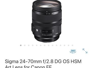 Sigma 24-70mm f/2.8 DG OS HSM Art - EF MOUNT