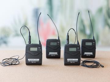 Rent: 2x Sennheiser G3 Wireless Lavalier Kit
