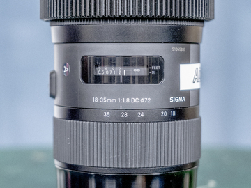 Rent: Sigma Art 18-35 F1.8 w/ Permanent Focus Gear (EF Mount)