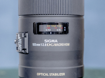 Rent: Sigma 105mm f2.8 DG Macro Lens w/ IS (EF Mount)
