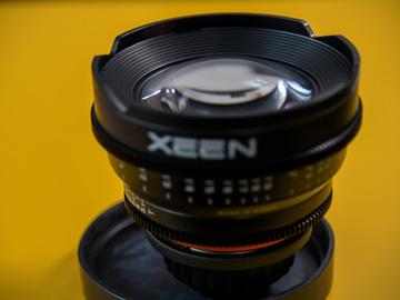 Rent: XEEN Prime Lenses - 6 lens kit with case.