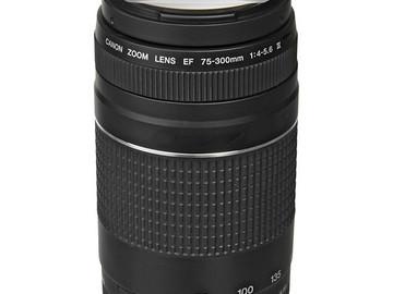 Rent: Canon EF 75-300mm f/4-5.6 III Telephoto Zoom Lens