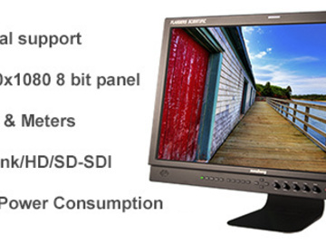 "Rent: FSI: 24"" Monitor & 4x Anton Bauer Batteries"