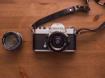 Rent: Vintage Nikkormat film camera with Vivitar 35mm f2.8 Prime